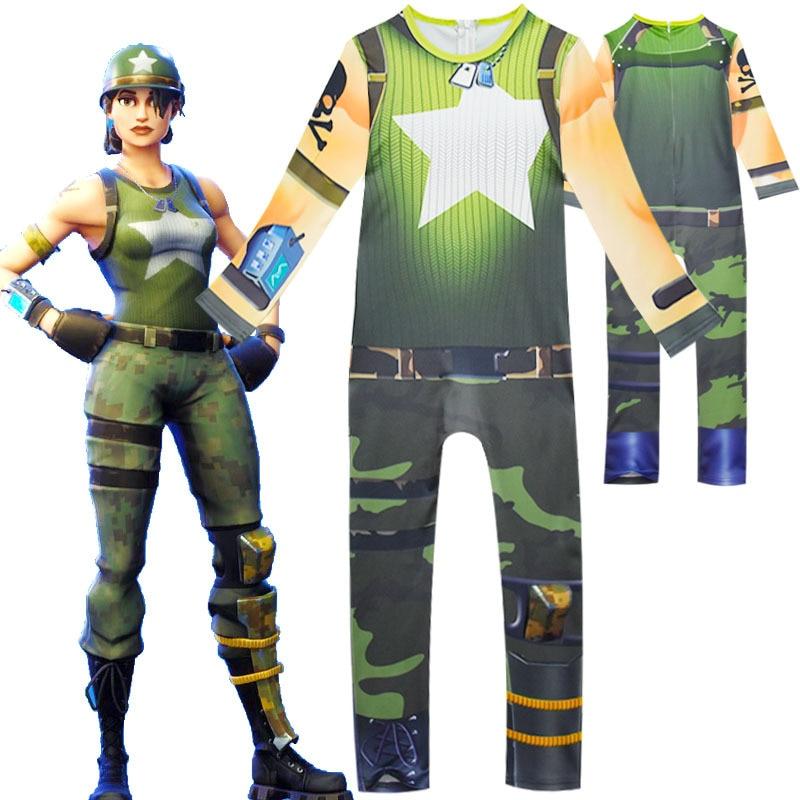 FfortnitedCosplay Costume Kids Streetwear Costumes Girls Jumpsuits FfortnitedCosplay Children Halloween Festive Party Supplies