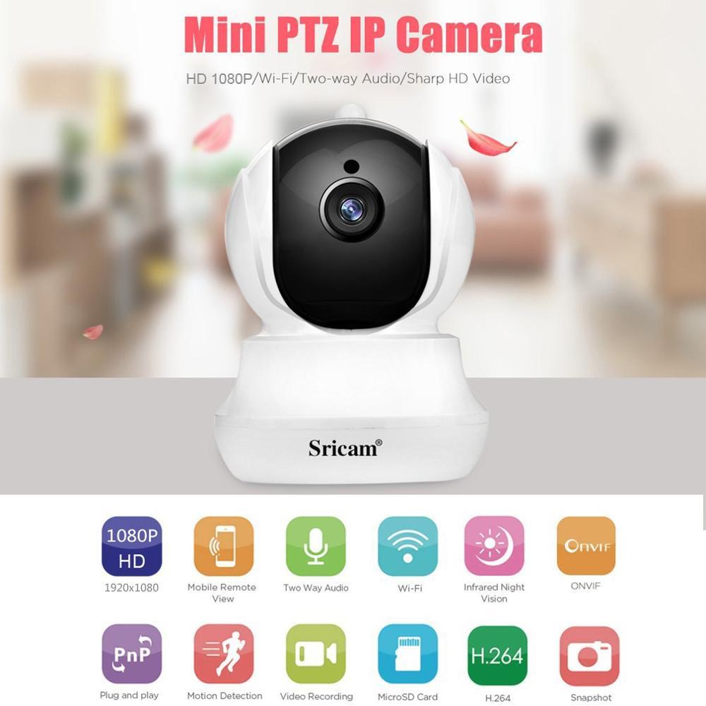 Sricam SP020 HD 1080P WiFi IP Security Indoor Camera Home Surveillance CCTV Baby Monitor IR-CUT Surveillance Wireless Camera