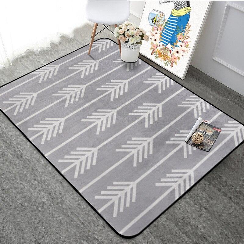 Nordique géométrique flèche salon tapis enfants chambre antidérapant tapis Rectangle étoiles chambre canapé tapis café bureau tapis - 3