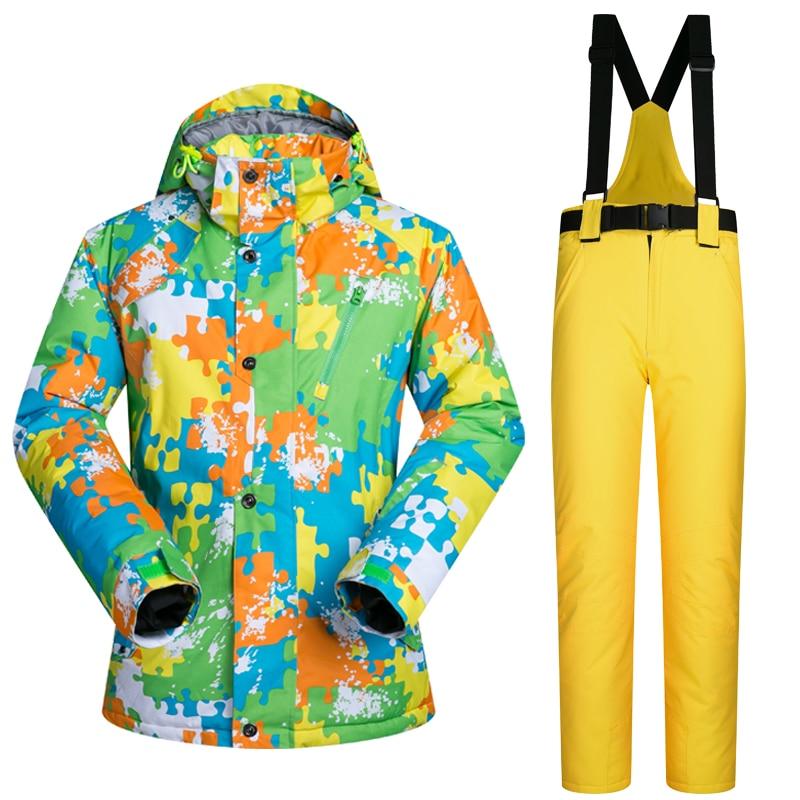 2017 New High Quality Men Ski Suit Male Outdoor Snow Jacket And Pants Windproof Waterproof Clothes Snowboard Winter Dress Brands men s cowboy jeans fashion blue jeans pant men plus sizes regular slim fit denim jean pants male high quality brand jeans