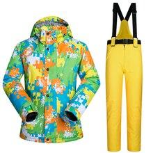 2017 Nouveau Haute Qualité Hommes Combinaison de Ski Masculine Extérieure Neige Veste Et Pantalon Coupe-Vent Imperméable Vêtements Snowboard Hiver Robe Marques