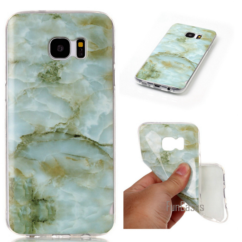 For Samsung S7 Edge Case Marble TPU Silicone Soft Case For SAMSUNG Galaxy S7 Edge G935 Back Skin Cover ShockProof Bags