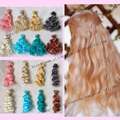 BJD doll wigs Fapai DIY high temperature wire instant noodles roll 15cm