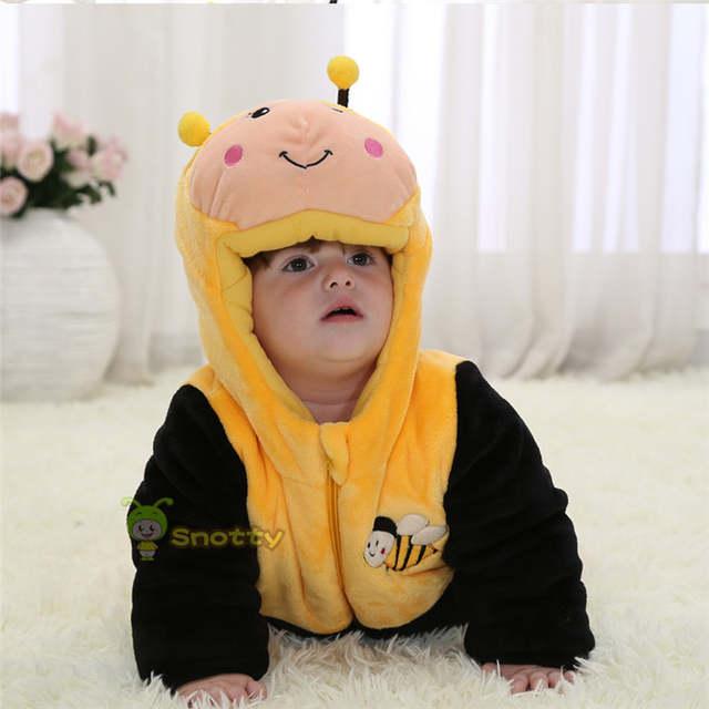 d6bf84694 Online Shop Animal Baby Boy Jumpsuit Fleece Yellow Bee 100% Cotton ...