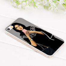 Oriental Woman In Hijab Face Muslim Islamic Gril Eyes transparent soft tpu Phone case for iphone 6 4s 5s 78plus X case