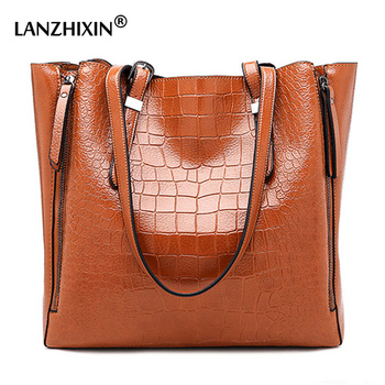 Large Capacity Leather Tote Shoulder Bags For Women 2018 Big Casual Brand Designer Women Handbags Ladies Hand Bag bolsa feminina grande bolsas femininas de couro