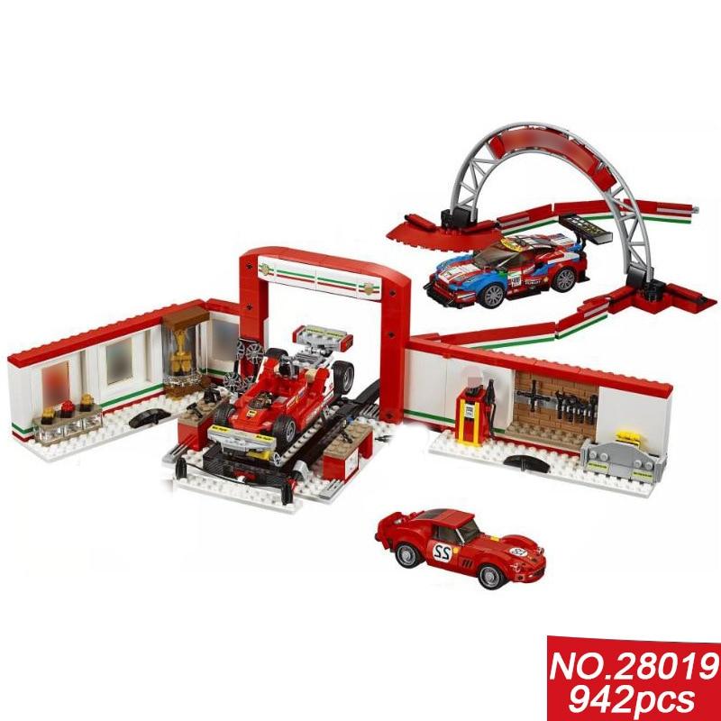 2018 new speed champion racing Ferra Ultimate garage building block racer driver Car repairman figures F1 bricks 75889 toys gti champion racer