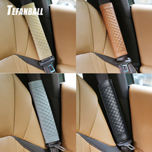 2Pc/Set Leather seat safety belt Cover Universal Soft Car Seat Belt Protector Shoulder Strap Pads Protect Your Neck And