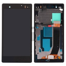 New LCD Display Touch Screen Digitizer Assembly Frame For Sony Xperia Z L36H LT36i LT36h LT36 C6603 C6602 C6606 High quality