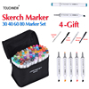 TOUCHNEW 30 40 60 80 Colors Dual Head Sketch Art Markers Alcohol Based Marker Set Best