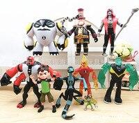 9 Pcs Set Ben 10 Anime Action Figures Kids Boys Toys For Children Figurines Model