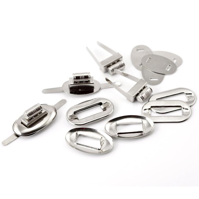 20Sets Silver Tone Oval Purse Twist Turn Lock Clasps DIY Coin Purse Bag Making 32x17mm 26x16mm 32x20mm 32x19mm 30 sets silver tone alloy frame kiss clasp closure lock purse twist turn lock purse bag parts 17x33mm 5 8x1 2 8