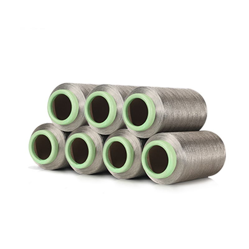 100% argent fiber DTY 70D fil à coudre argent filament élastique antibactérien conductivité 500 g/pièce