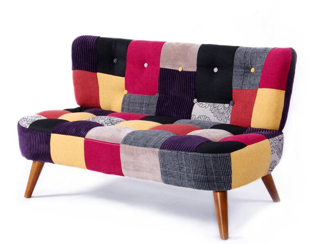 US $429.0 |Classic Sofas And Loveseats Mid Century Modern Upholstery Fabric  Sofa Couches for Home Living Room Furniture Office Sofa 2 Seat-in Living ...