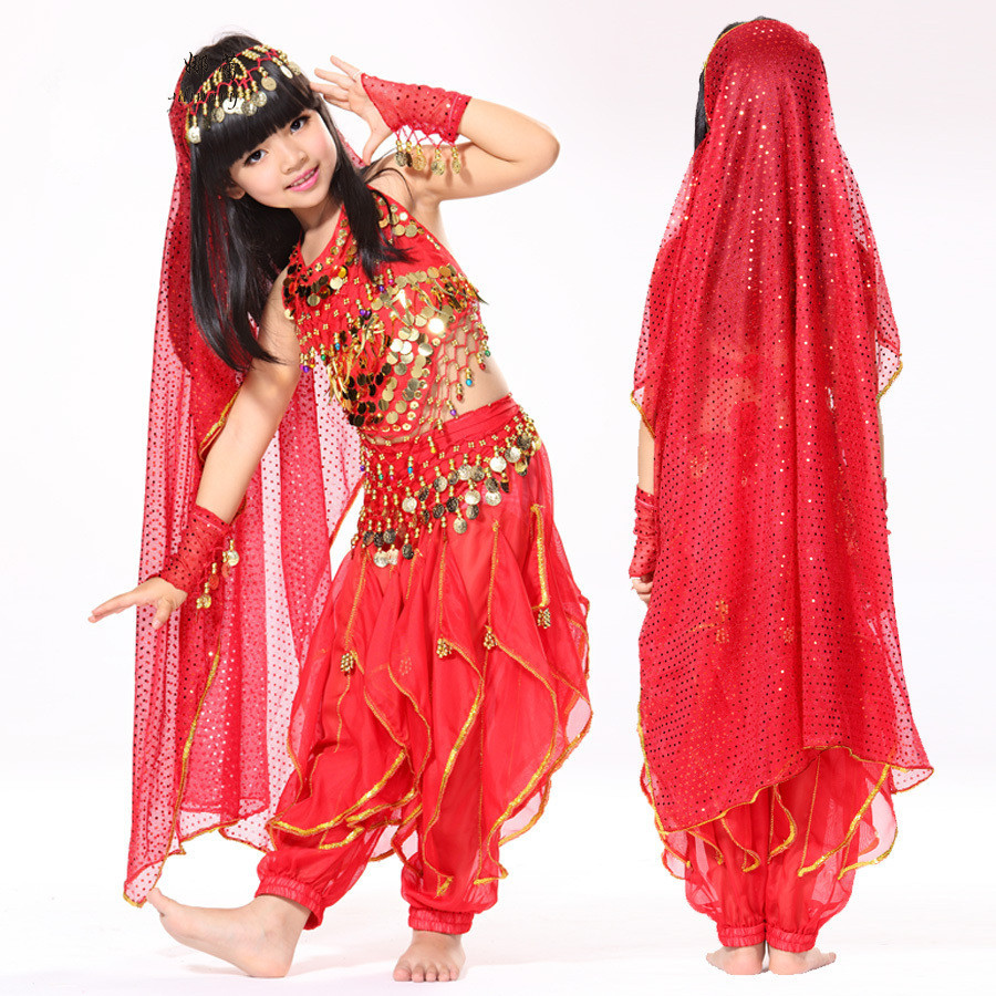 Belly Dance Performance Costume Belly Dance India Dance Indian Kids Bollywood Costume Kids