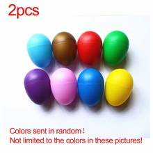 Песок яичный шейкер перкуссионные музыкальные инструменты игрушки раннего развития для маленьких детей 2 пластиковые песочные яйца#25