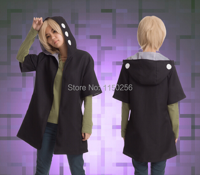 Free Shipping Heat Haze Project (Kagerou Project) KANO SHUUYA Cosplay Costume Coat/Jacket/Cloak+T shirt Full Outfit New