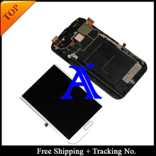 Free Shipping + 100% tested original For Samsung Galaxy note 2 N7100 N7105 LCD  Digitizer Assembly with frame – White/Grey