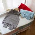 De Aguas Termales y el Otoño 2017 de los niños del bebé muchachos y muchachas encantadoras del chaleco suéter de punto suéter suéter bolsillo