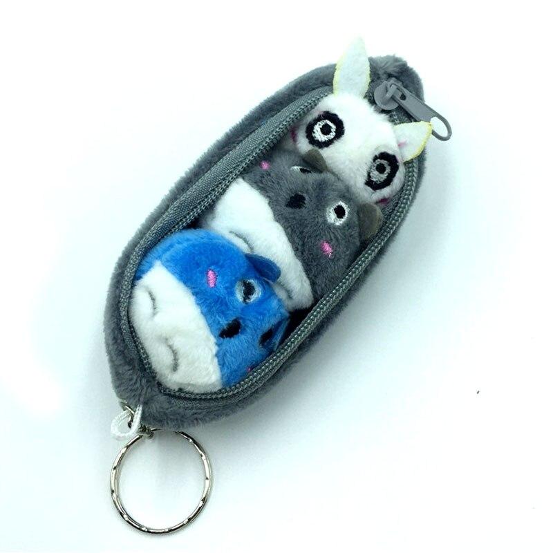 10CM Gray Totoro Pea Beans Pendant Plush Stuffed Toy Key Chain Toy Kid's Gift Plush Toys I0074