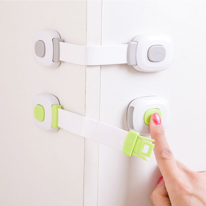 Adjustable Child Safety Locks Cabinets Toilet Lid Drawer Washing Machine Jammer Children Baby Safety Care Home Room Accessory