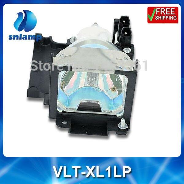 Compatible replacement projector bulb lamp VLT-XL1LP with housing for SL1 SL2 XL1 SL2U XL1U SL1U compatible replacement projector bulb projector lamp with housing sp lamp 062 for in3916