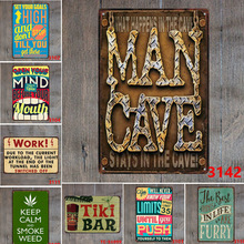 Retro Metal Tin Signs Romantic English Poetry Home Decor For Bar Coffee Pub Restaurant Hotel Poster Craft