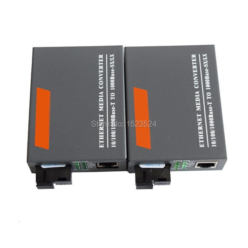 Image 2 - 1 Pair HTB GS 03 A/B Gigabit Fiber Optical Media Converter 