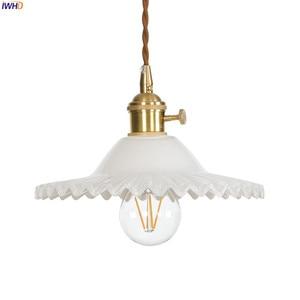 Image 5 - IWHD لوفت نمط الشمال الزجاج قلادة أضواء تركيبات الطعام غرفة المعيشة الرجعية خمر نجفة تركيبات Hanglamp اديسون