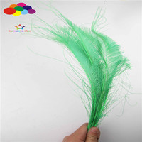 Z & Q & Y Natural Beautiful 100 35 40CM (14 16 Inch) Peacock Feather Grass Dyeing Green DIY Clothing Stage Makeup Jewelry