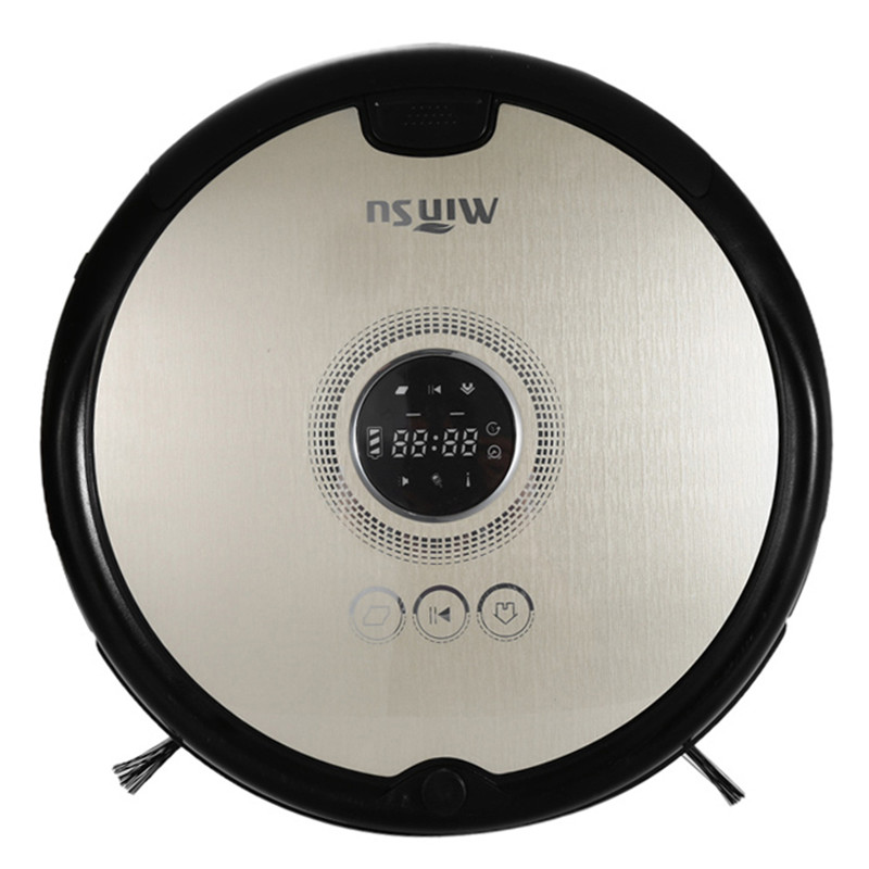 MinSu 800Pa Smart Robotic Vacuum Cleaner For Home Dry Wet Cleaning Machine LCD Home Appliances 4 Cleaning Modes Remote Control magical ice cube