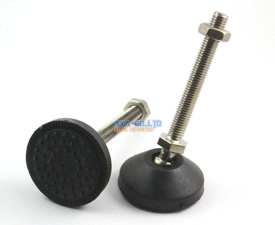 4 Pieces 50mm  Swivel Base M10*80mm Adjustable Lathe Leg Articulating Leveling Feet thyssen parts leveling sensor yg 39g1k door zone switch leveling photoelectric sensors