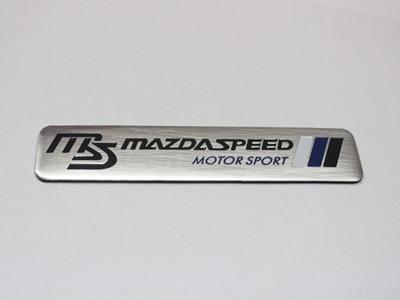 mazdaspeed emblem. auto 3d aluminium ms mazdaspeed motor sport emblem decal badge sticker case for mazda mazdaspeed