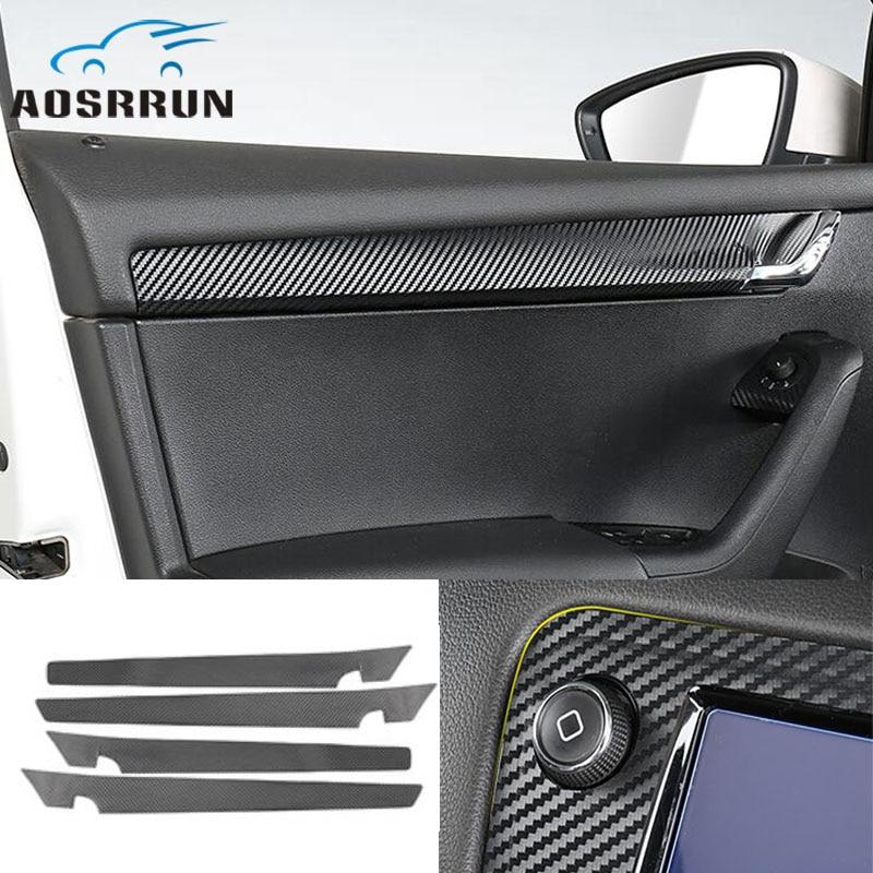 Accessoires de voiture de film de panneau de porte de film décoratif de fibre de carbone de style de voiture pour skoda Octavia A7 2015 2016 2017 2018 2019 berline