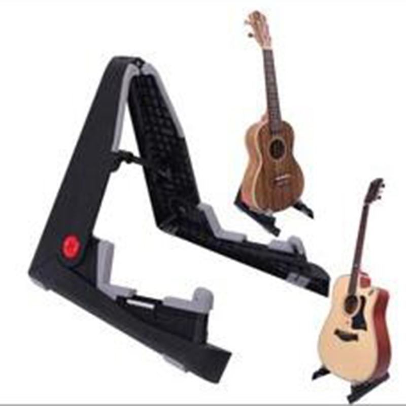 Portable Guitar Stand Holder Bracket Mount Foldable Universal for Acoustic Classical Electric Guitar Ukulele Bass universal folding bicycle bike umbrella bracket holder mount stand