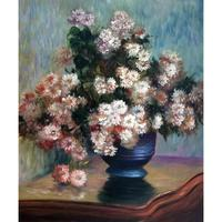 Handmade oil painting reproduction of Claude Monet High quality Chrysanthemums Living room decor