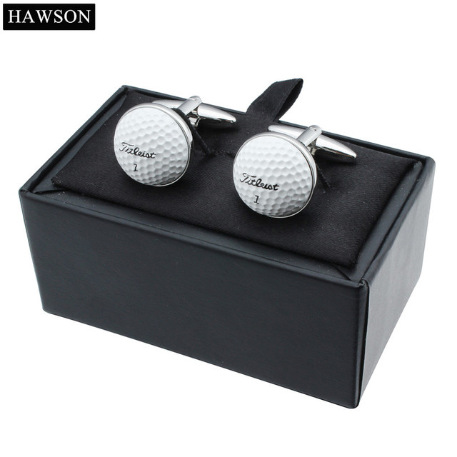HAWSON Sport Theme Cufflinks Golf Ball Special Design for Golf Enthusiasts Cuff Links for French Cuffs/Shirts Thoughtful Gift 3