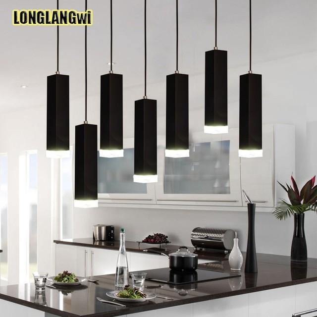 € 50.51 53% de DESCUENTO|Luces colgantes de aluminio nórdico LED lámpara  colgante para comedor Led restaurante bar hotel recepción iluminación ...
