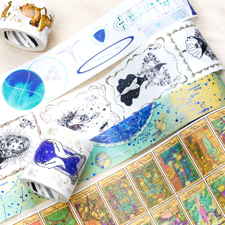 Mysterious Power Series Washi Tape Japanese Paper DIY Planner Masking Tape Tapes Stickers Decorative Stationery Tapes 12pcs lot vegetab fruit plant paper masking tape japanese washi tapes set 3cm 5m stickers kawaii school supplies papeleria 7161