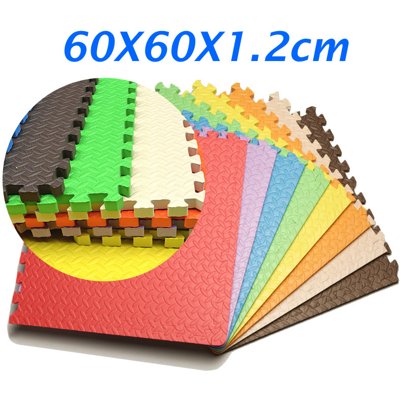 1.2CM Thick 60*60CM Baby Floor Mat Foam Puzzle Mat Exercise Tiles Nonslip Foam Play Mat EVA Foam Carpet Kids Game Pads PX63 | Happy Baby Mama