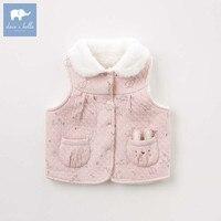 DBZ8203 dave bella autumn baby girls sleeveless lovely coat children high quality coat kids lolita vest 1 pc