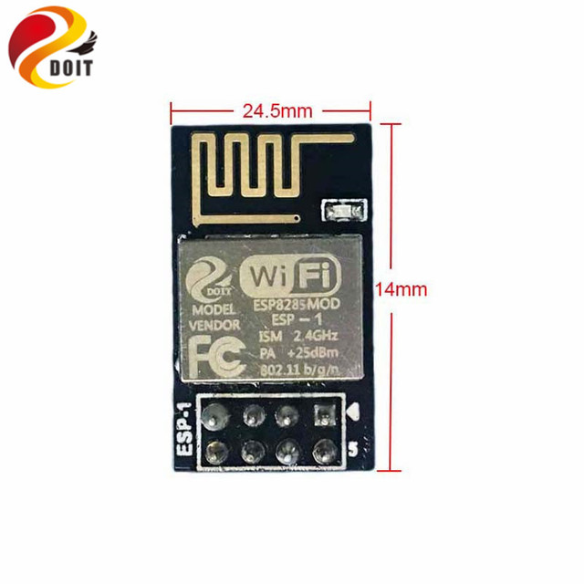 Official DOIT 10pcs/pack ESP8285 ESP-1 Serial Wireless WiFi Transmission Module Fully Compatible with ESP8266