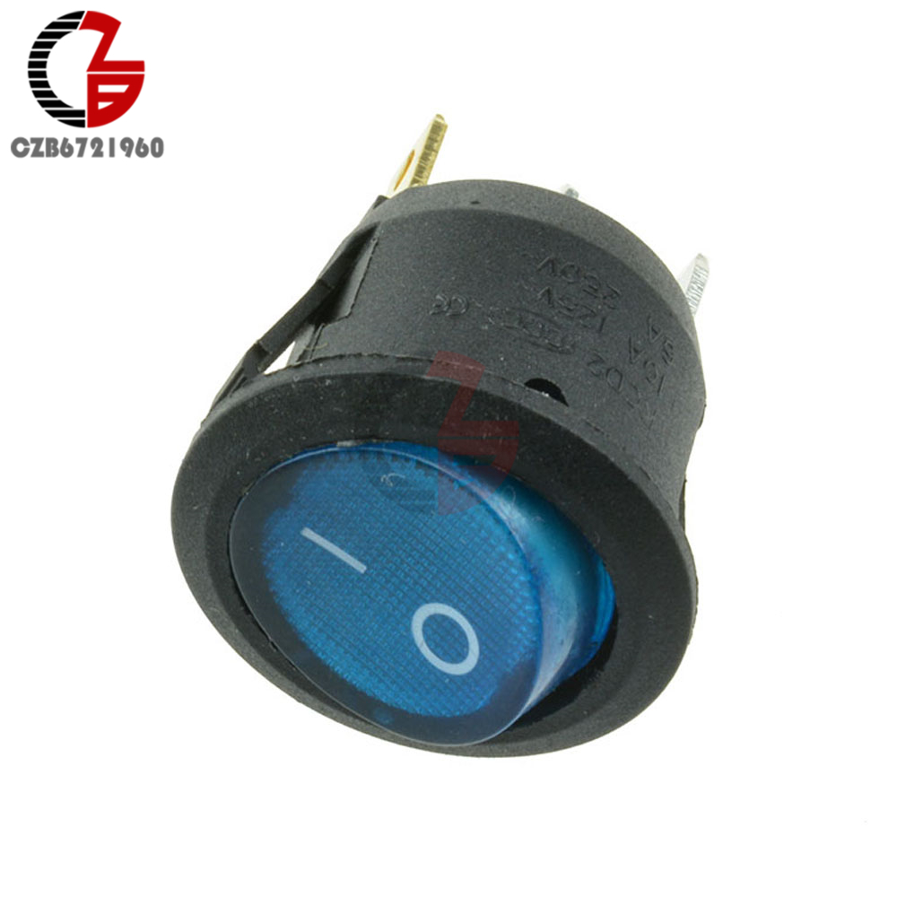 10PCS Mini Round Black 3 Pin SPDT ON-OFF Switch Snap-in SA