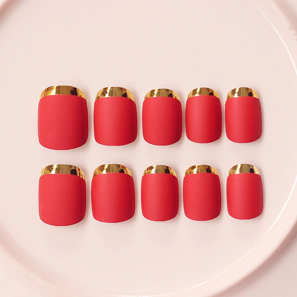 Luxury Red Fake Nails Ensign - Nail Polish Ideas ...