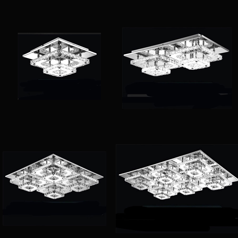Modern Crystal LED Ceiling lights Fixture Indoor Lamp lamparas de techo Lustres led Ceiling Lamp bed living room hall lighting modern led ceiling lights for indoor lighting plafon led square ceiling lamp fixture for living room bedroom lamparas de techo