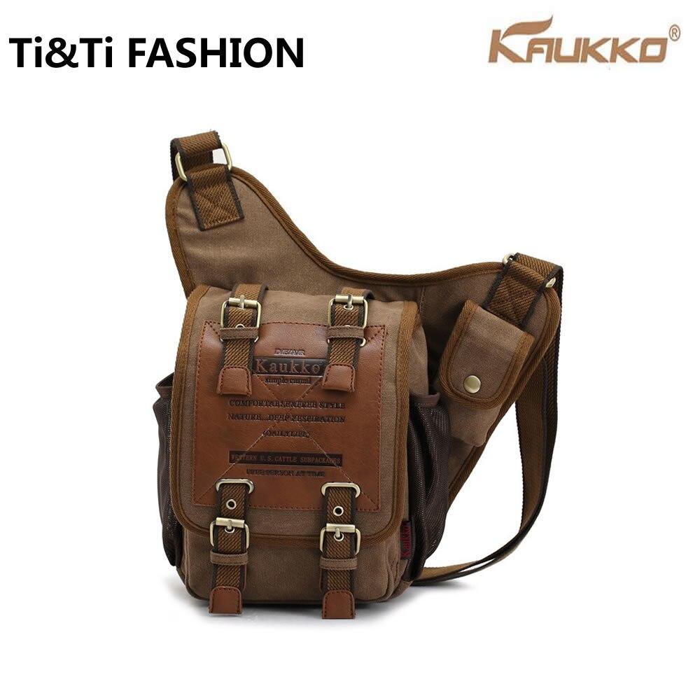 ФОТО Hot 2016 Original KAUKKO Brand Retro Vintage Canvas Bag Travel Men Messenger Bag Man Crossbody Bags Shoulder Bags for Men