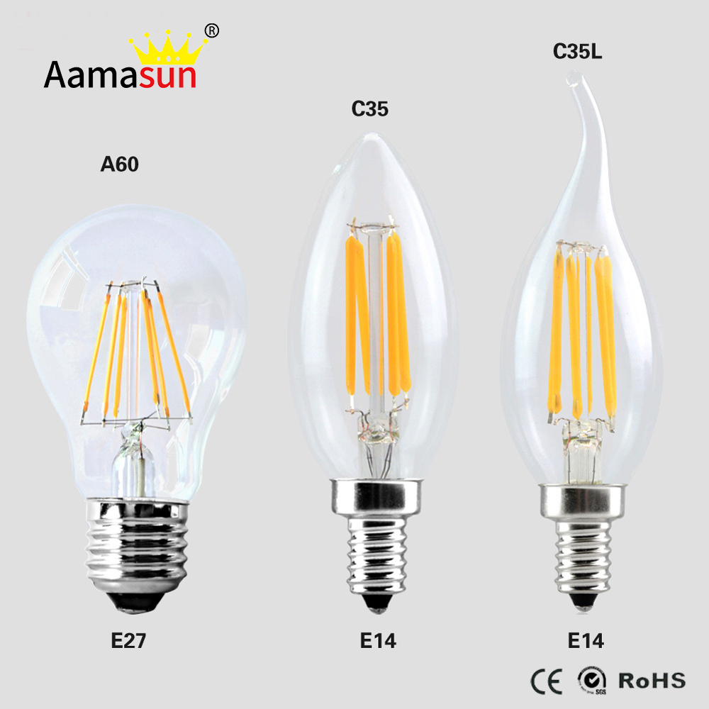 g45 a60 2w 4w 6w 8w led filament bulb light e27 lampada. Black Bedroom Furniture Sets. Home Design Ideas