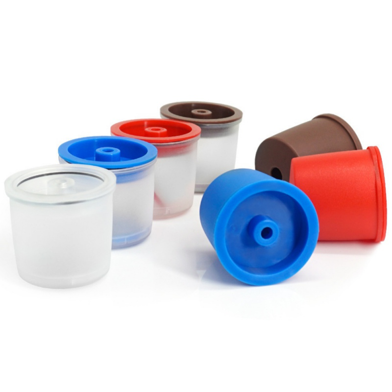 Pack Of 1 Stainless Steel Plastic Reusable Coffee Filter Refillable Capsule Cup For Illy Coffeemaker Random Colour