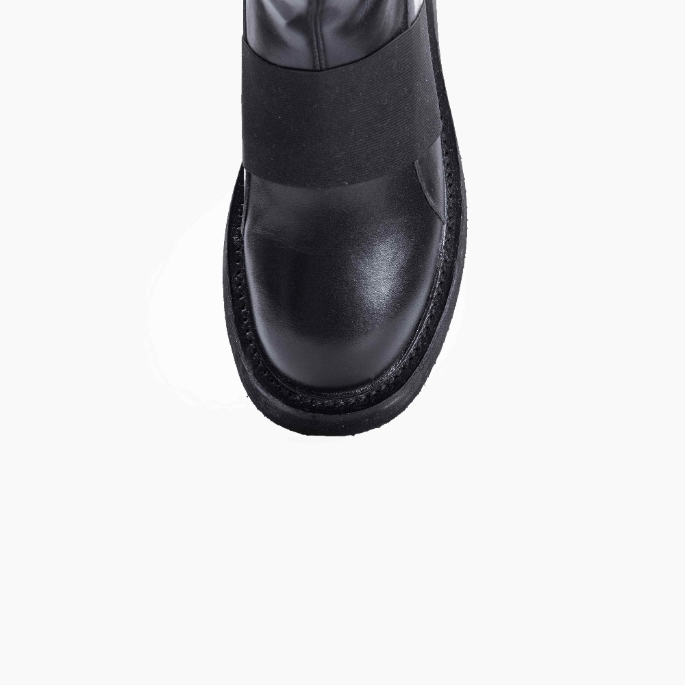 Véritable Oriental Cuissardes Moderne Krazing Mince Cuir Jambe S'étendent Sur Med Bottes Streetwear L08 Pot 2019 En Talons leGenou rdstQxhC