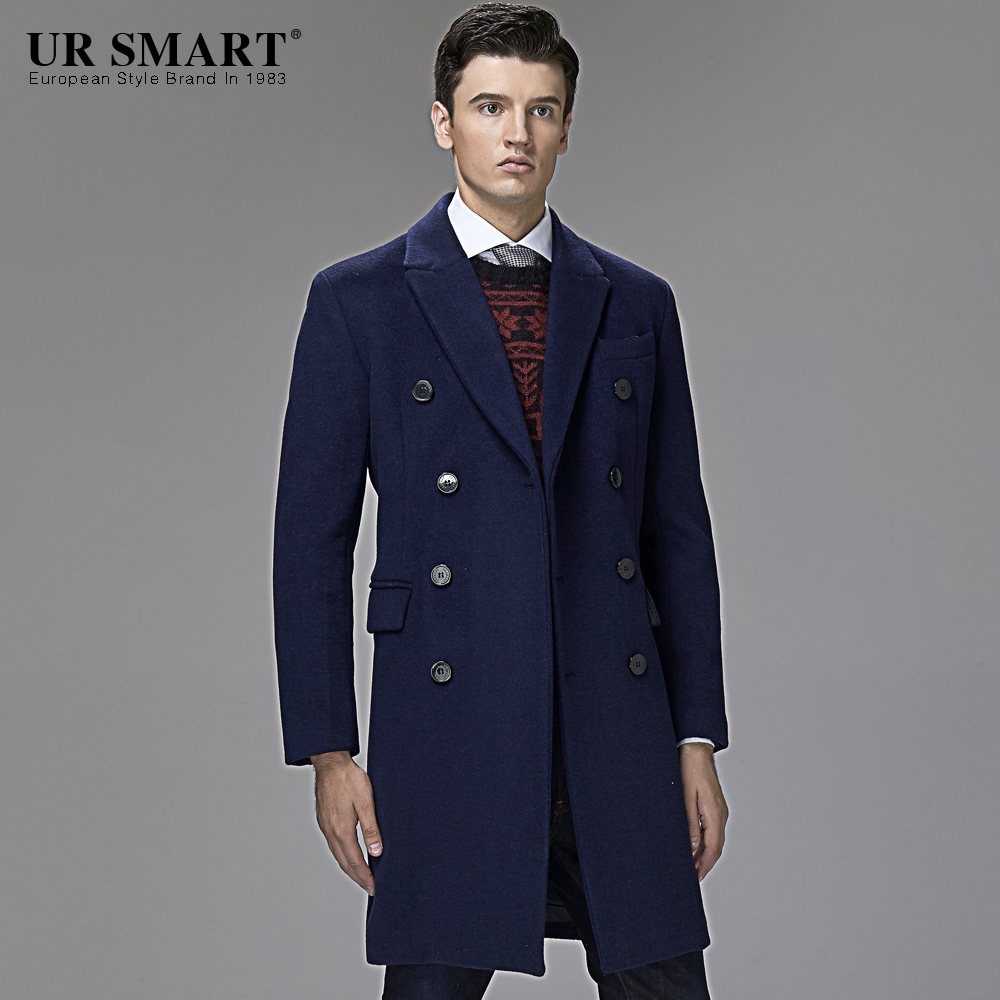 stylish men necessary ursmart double breasted men's wool coat in